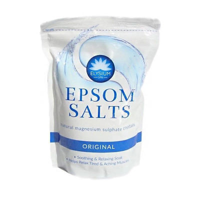 ELYSIUM EPSOM SALTS RESEALABLE SPA BATH NATURAL MAGNESIUM SULPHATE CRYSTALS 450g