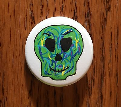 Skull Pin Button Magnet Skulls Biker Skullcandy Skull Mask Blue Green Skeleton