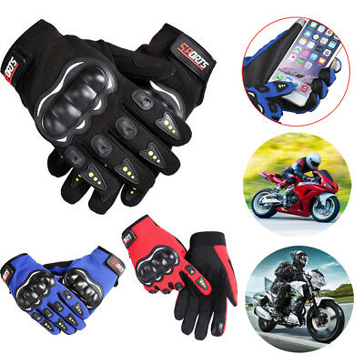 Outdoor Touch Screen Carbon Fiber Motorcycle Racing Bike Half/Full Finger Gloves