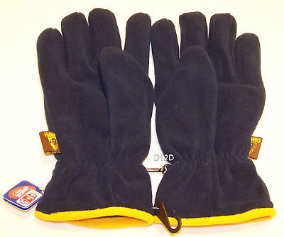 Hawthorn Hawks AFL Youth Navy Polar Fleece Gloves New