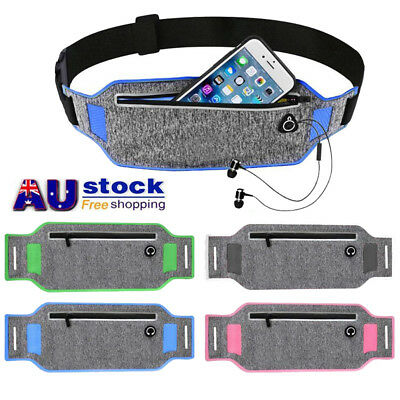 AU Sports Running Jogging Gym Waist Strap Case Holder Bags For Mobile Phones