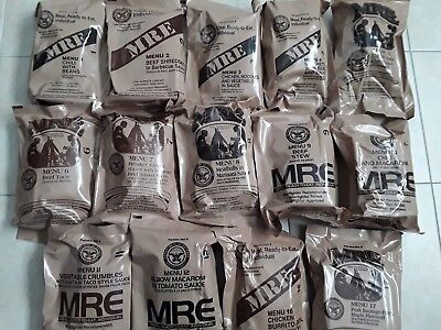 US MRE Meal ready to eat, Insp./Test 14 x 06/2020, 12 x A, 2 x B