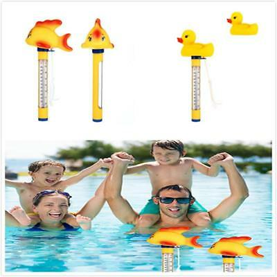 Spa Swimming Pool Floating Water Thermometer Bath Toy Outdoor Yellow Fish New