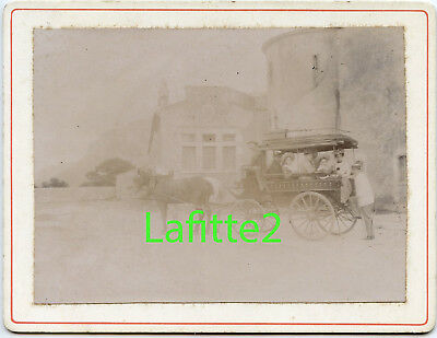 Photo transport en commun hippomobile 1880's omnibus old French carriage Drôme