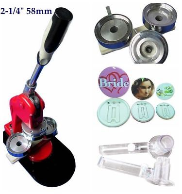 2-1/4INCH/58MM BUTTON BADGE Making Machine DIY Badge Maker +1000 Button  Supplies