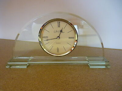 Ellis and Lloyd Art Deco Style Glass Clock Unboxed