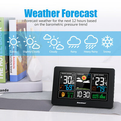 Excelvan Digital Wireless Weather Station with Large LCD Display 60m/200ft Range