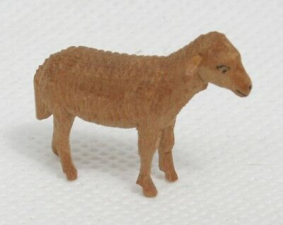 Antique Miniature Hand Carved Wood Sheep Figure