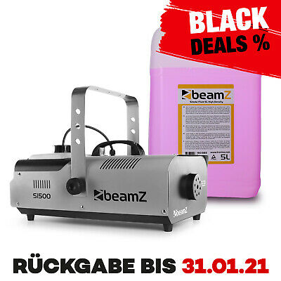 Nebelmaschine Smoke Fog Machine Party Rauch 1500 W DMX inkl. 5 Liter Nebelfluid