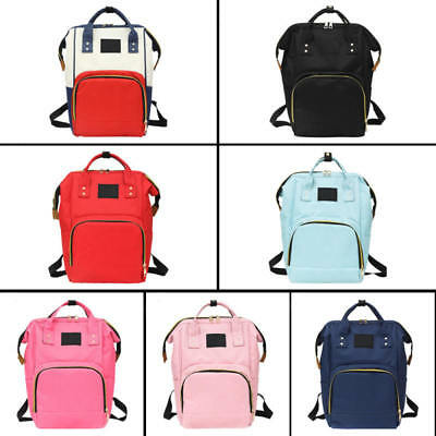 US Small Mummy Diaper Bags Baby Nappy Mom Travel Backpack Maternity Changing Bag