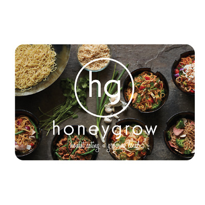 Honeygrow Gift Card $100 Value, Only $92.00! Free Shipping!