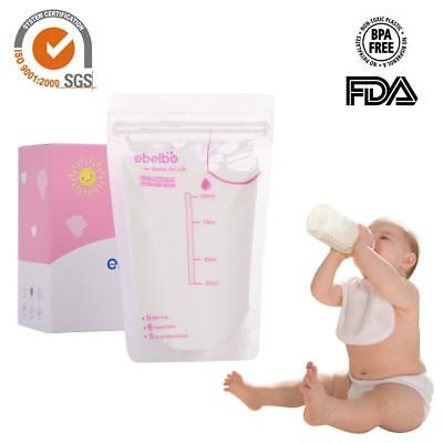 30 Count Pre-sterilised Baby Feed Breast Milk Storage Bags Pouches 100ml