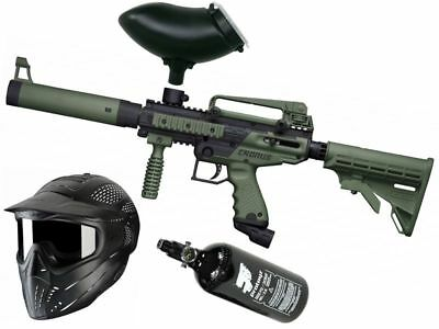 Paintball Set Tippmann Cronus Tactical oliv, inkl. JT Headshield + HP + Munbox
