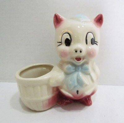 PORKY PIG FIGURAL CERAMIC PLANTER by SHAWNEE VINTAGE WARNER BROS. LOONEY TUNES