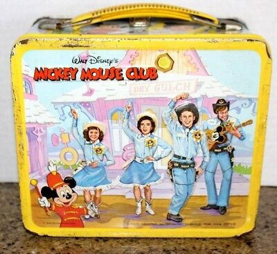Vintage Metal Disney Mickey Mouse Club Lunch Box Aladdin No Thermos Mousekeeters