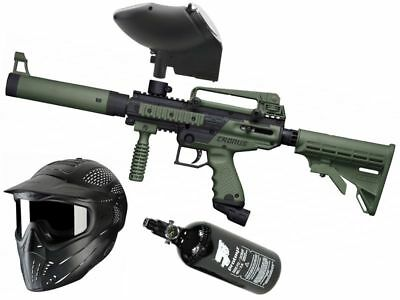 Paintball Set Tippmann Cronus Tactical oliv, inkl. JT Headshield + HP + JT Revo