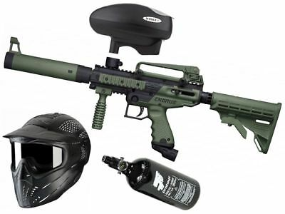 Paintball Set Tippmann Cronus Tactical oliv, inkl. JT Headshield + HP + V-Max+