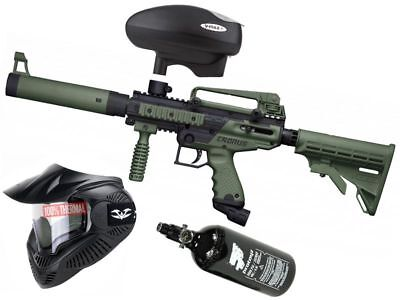Paintball Set Tippmann Cronus Tactical oliv, inkl. Valken thermal  + HP + V-Max+
