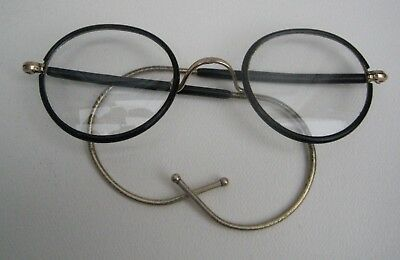 Vintage Pair of 1/20 Rolled Gold & Faux Tortoishell Spectacles