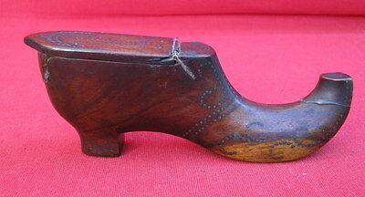Tabatiere Ancienne Forme Chaussure Sabot / Snuffbox