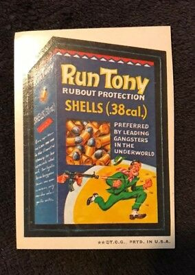 Vintage Topps 1970's Wacky Packages - Run Tony Shells  - 2nd Edition - Rare!!