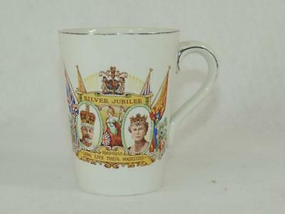 1935 Silver Jubilee King George Queen Mary MUG Ceramic English ROYAL Collectible