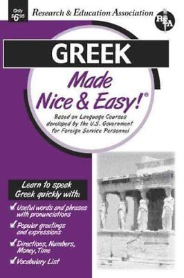 Nice & Easy Greek by Staff Of Rea 9780878913701 (Book, 2001)