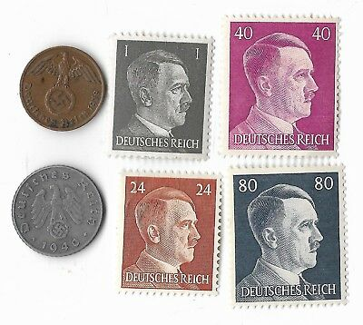 Authentic Rare Old German Relic wwii ww2 Germany Coin Stamp Great Collection Lot