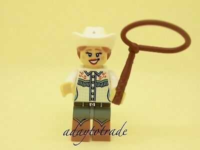 X 1 BROWN WHIP FOR THE COWGIRL FROM SERIES 8 PARTS 8 LEGO-MINIFIGURES SERIES