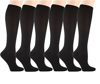 6 Pairs Knee High Graduated Compression Socks 6 Pr Men Women L/XL New In Box