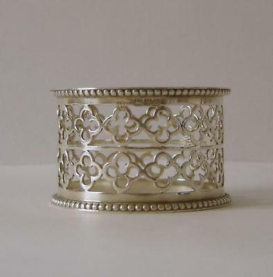An Ornate Antique Sterling Silver Napkin Ring Chester 1902 Haseler Brothers