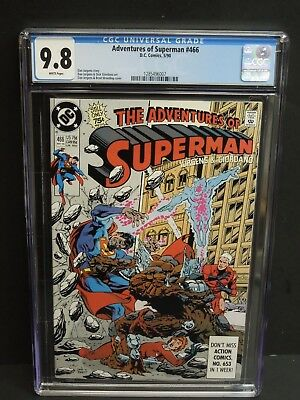 Dc Adventures Of Superman #466 1990 Cgc 9.8 White Pages 1St Cyborg Hank Henshaw
