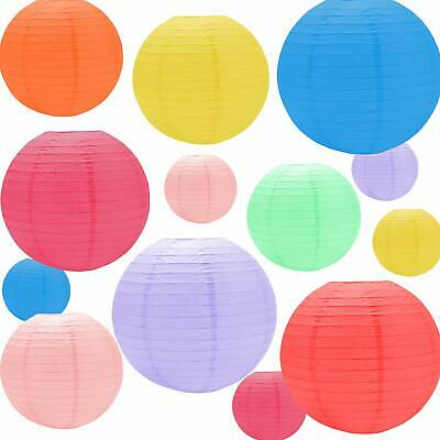"10 Pack of 8"" 10"" 12"" 14"" 16""  Paper Lantern Chinese Decoration Wedding Party"