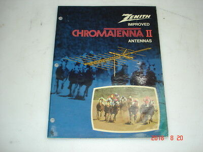 Vintage Zenith Improved Chromatenna II Antennas Booklet 24 pages 902-1760