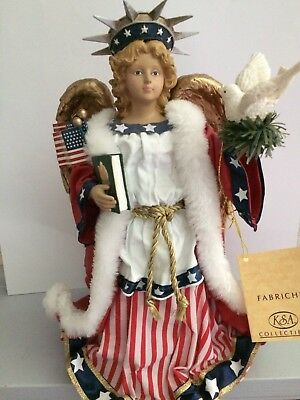 Ksa ( Kurt S. Adler) Collectible American Stars And Stripes Angel