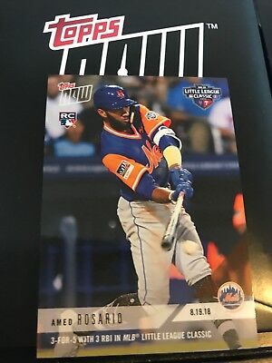2018 Topps NOW MLB 619 Amed Rosario 3-for-5 3 RBIs Little League Classic (RC)