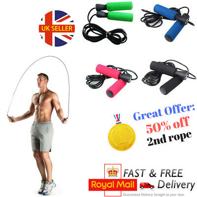 Adult Skipping Rope Weighted Skip Rope for Fitness Speed Bxr Crossfit Gym 8.5ft