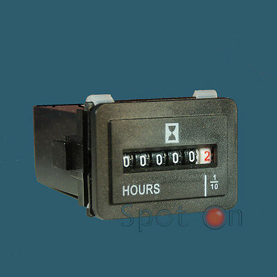 Hour Meter, Magneto powered - small engine 4/40 VAC/VDC