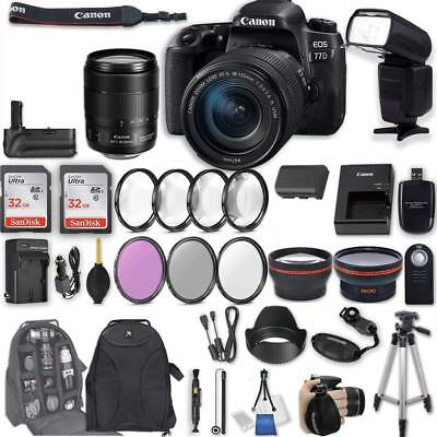 Canon EOS 77D DSLR Camera with EF-S 18-135mm f/3.5-5.6 IS USM Lens