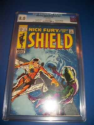 Nick Fury Agent of Shield #11 Silver Age Barry Smith CGC 8.0 VF Beauty Wow