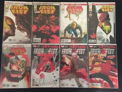 IRON FIST 8 Comic Lot - #73 74 75 76 77 78 79 80, Marvel Legacy, NM, Sabretooth