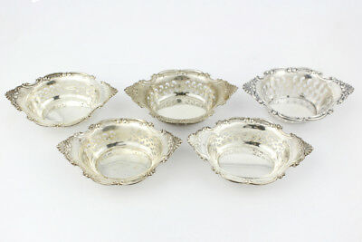 Vintage Birks/Gorham Sterling Silver Reticulated Nut Dish; Set of 5