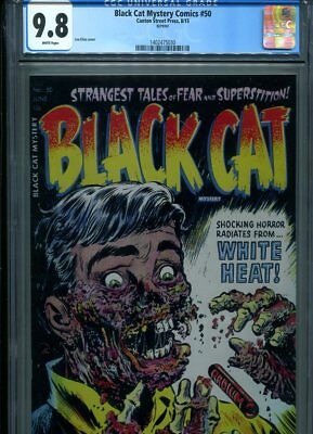 Black Cat Mystery #50 Cgc Mt 9.8 Canton Street Press Edition White Pages Elias