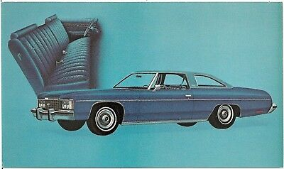 1974 Chevrolet Impala Custom Coupe Automobile Advertising Postcard