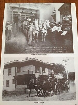 Vintage Fire Engine Fire Truck Ad Advertisement Fire Fighter FR31