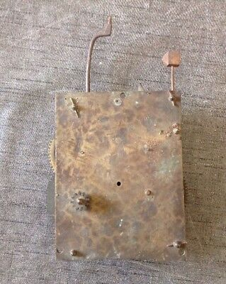 Antique Clock Movement for Spare Parts  or Repair 150x110mm