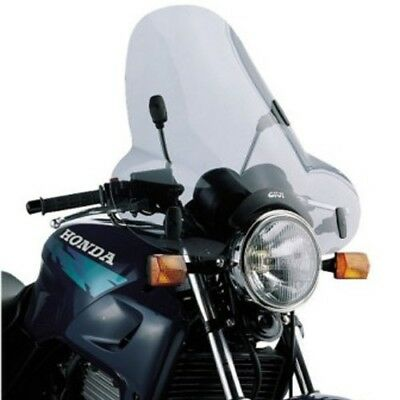 A31 Universal screen with 4 point handlebar, smoked 50 x 61,5 cm (H x W) GIVI Mo
