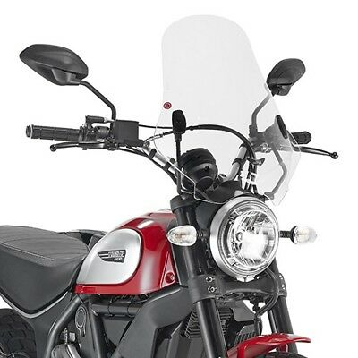 Windshield transparent for DUCATI SCRAMBLER 800 2015 GIVI Motorbike