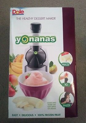 Yonanas Original Healthy Dessert Fruit Soft Serve Ice Cream Maker