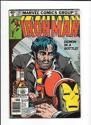 Iron Man #128 ==> Vg+ Alcoholism Issue Demon In A Bottle Marvel Comics 1979